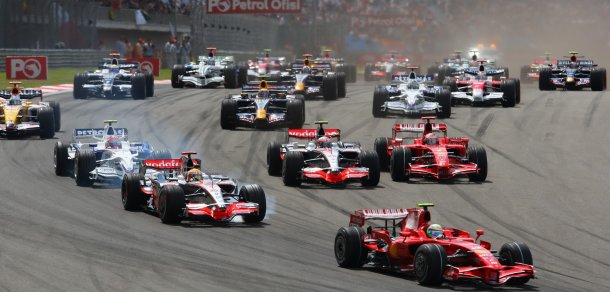 Start, Turkish F1, Istanbul Park, 9th-11th May, 2008 (Foto: Peter J Fox/Crash Media Group)