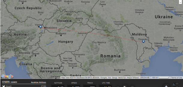 (Foto: captură site / flightradar24.com)